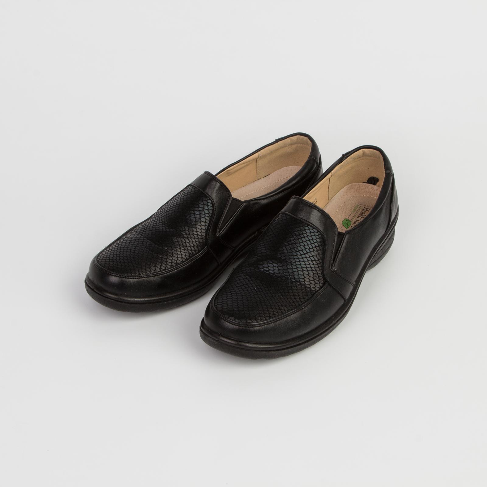 Туфли женские с декорированной вставкой на мысу