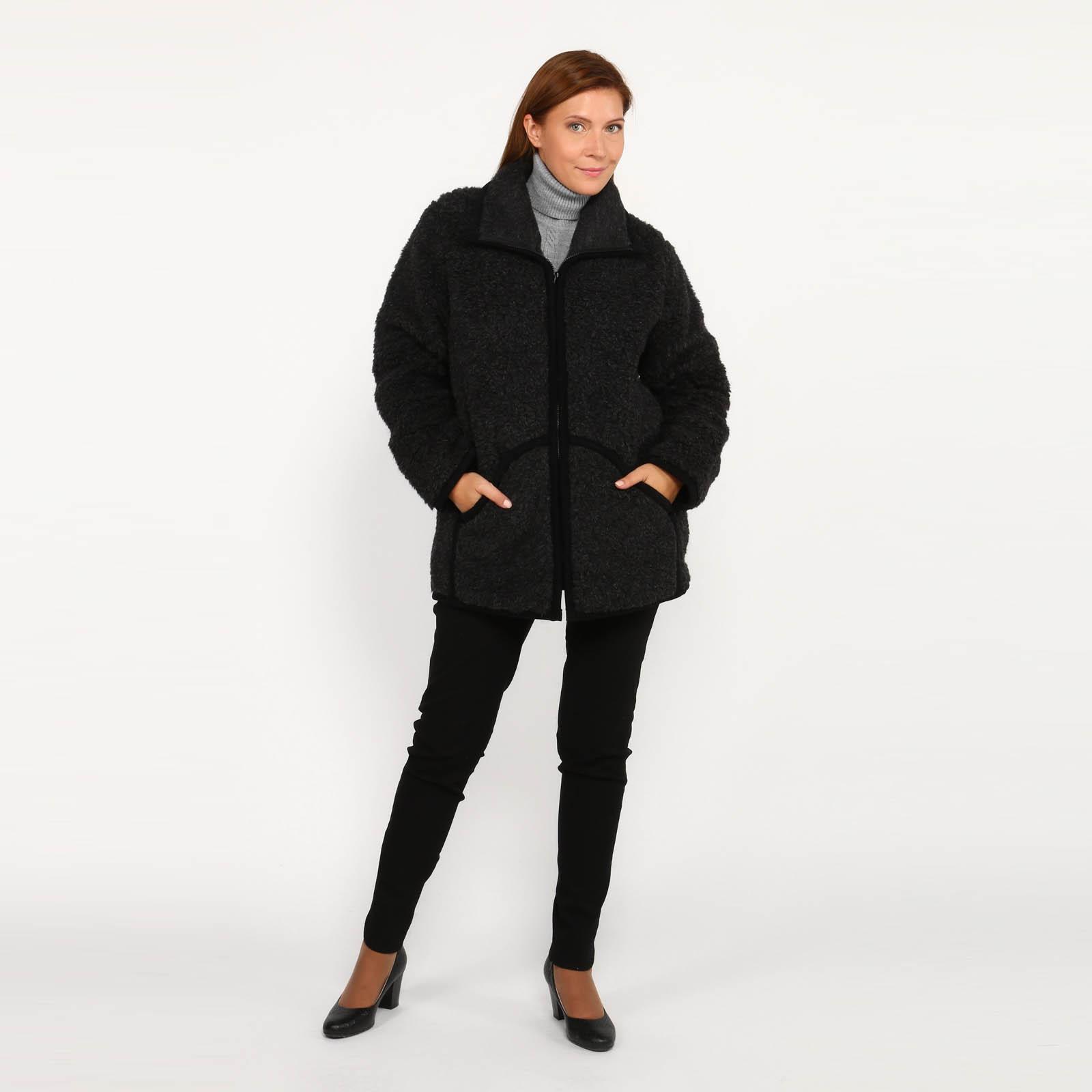 Куртка из овечьей шерсти с карманами