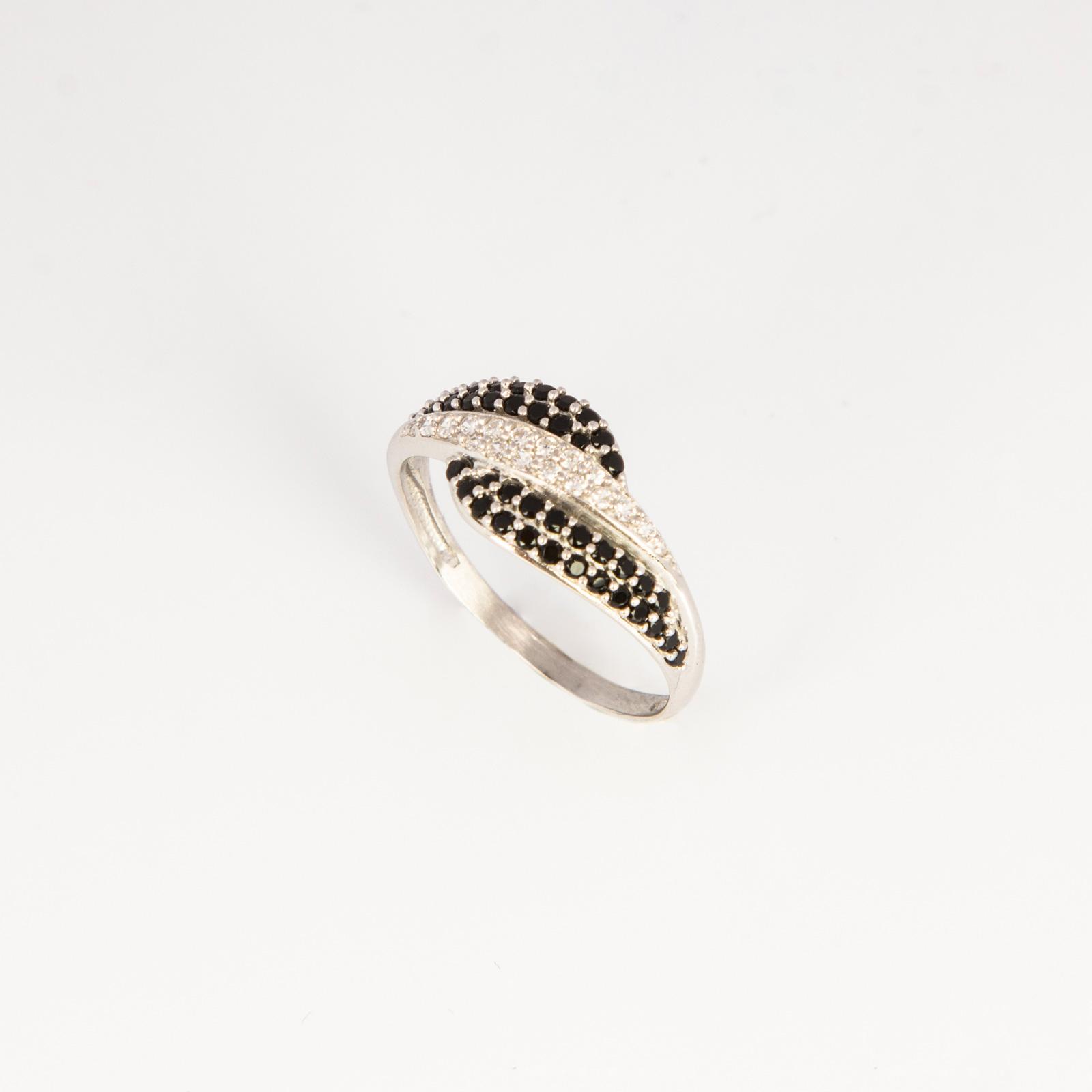 Серебряное кольцо «Монохром»
