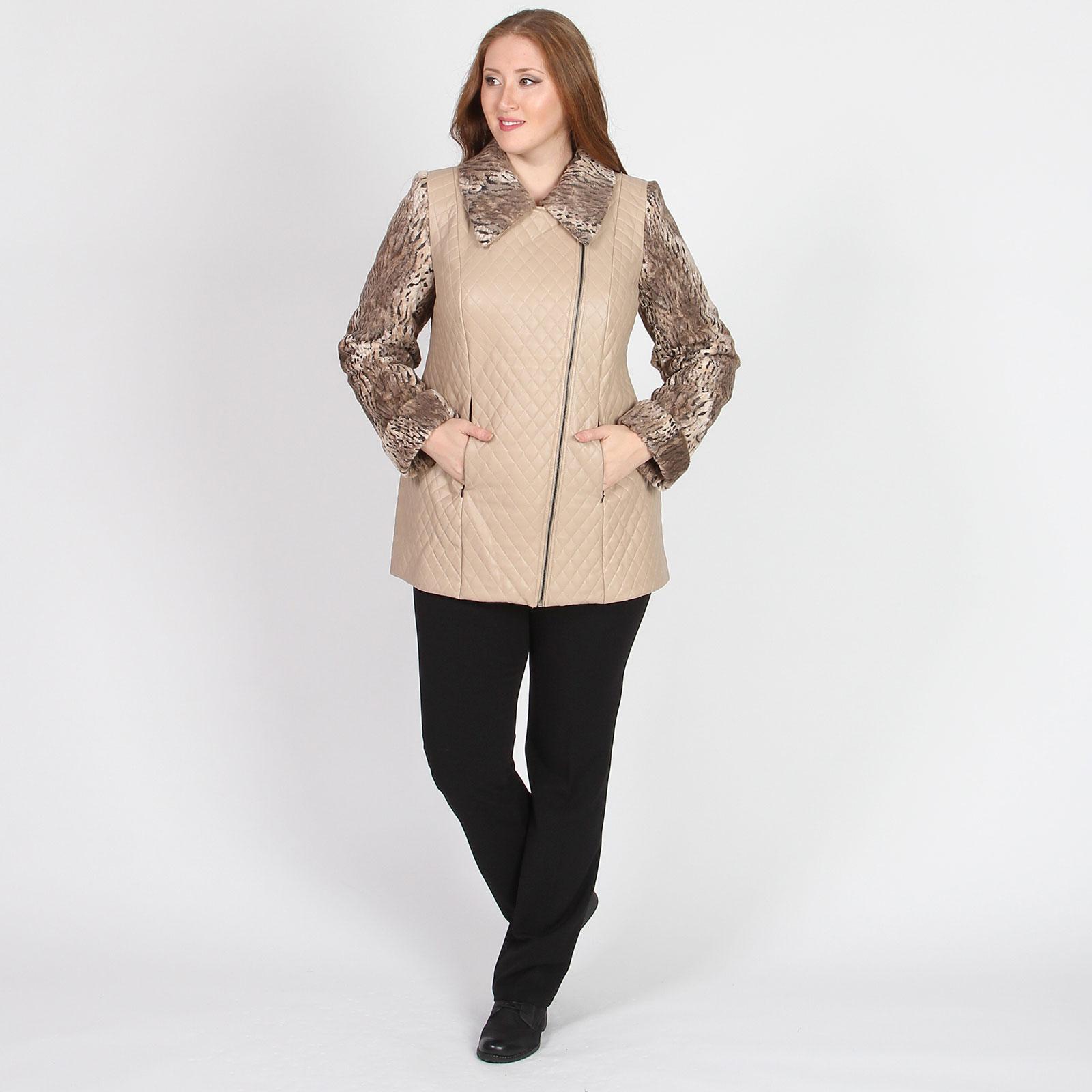 Куртка-косуха с анималистическим принтом