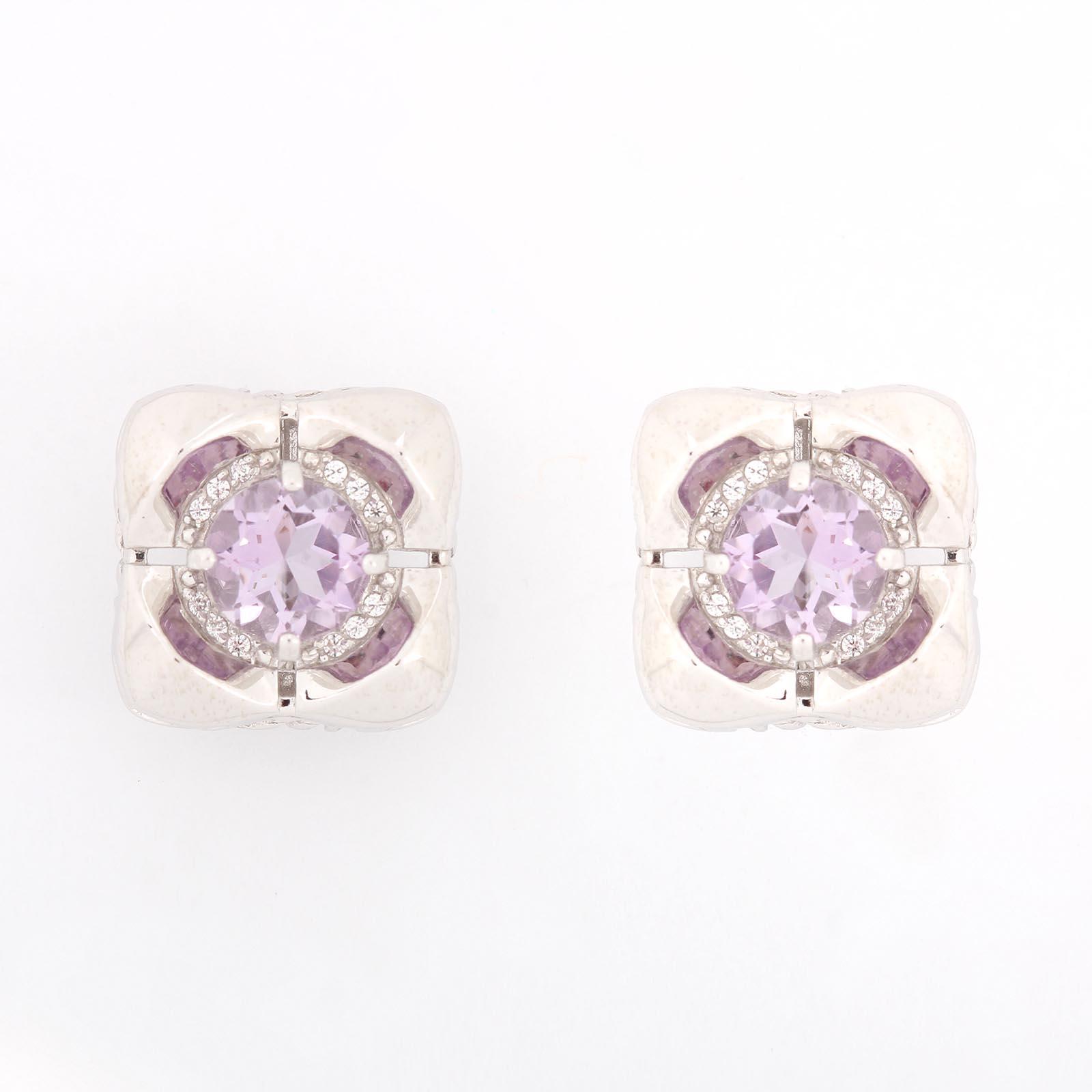 Серебряные серьги «Таинство аметиста»