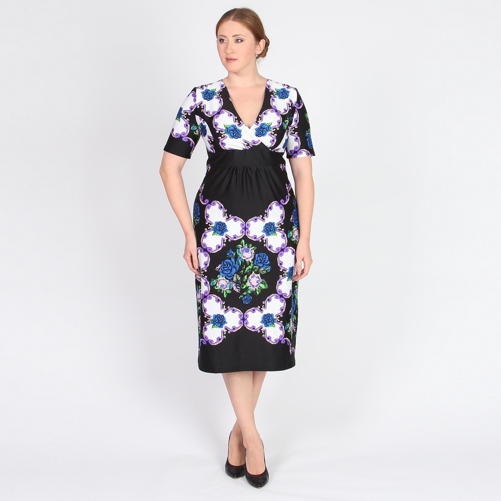 Платье с запахом на груди