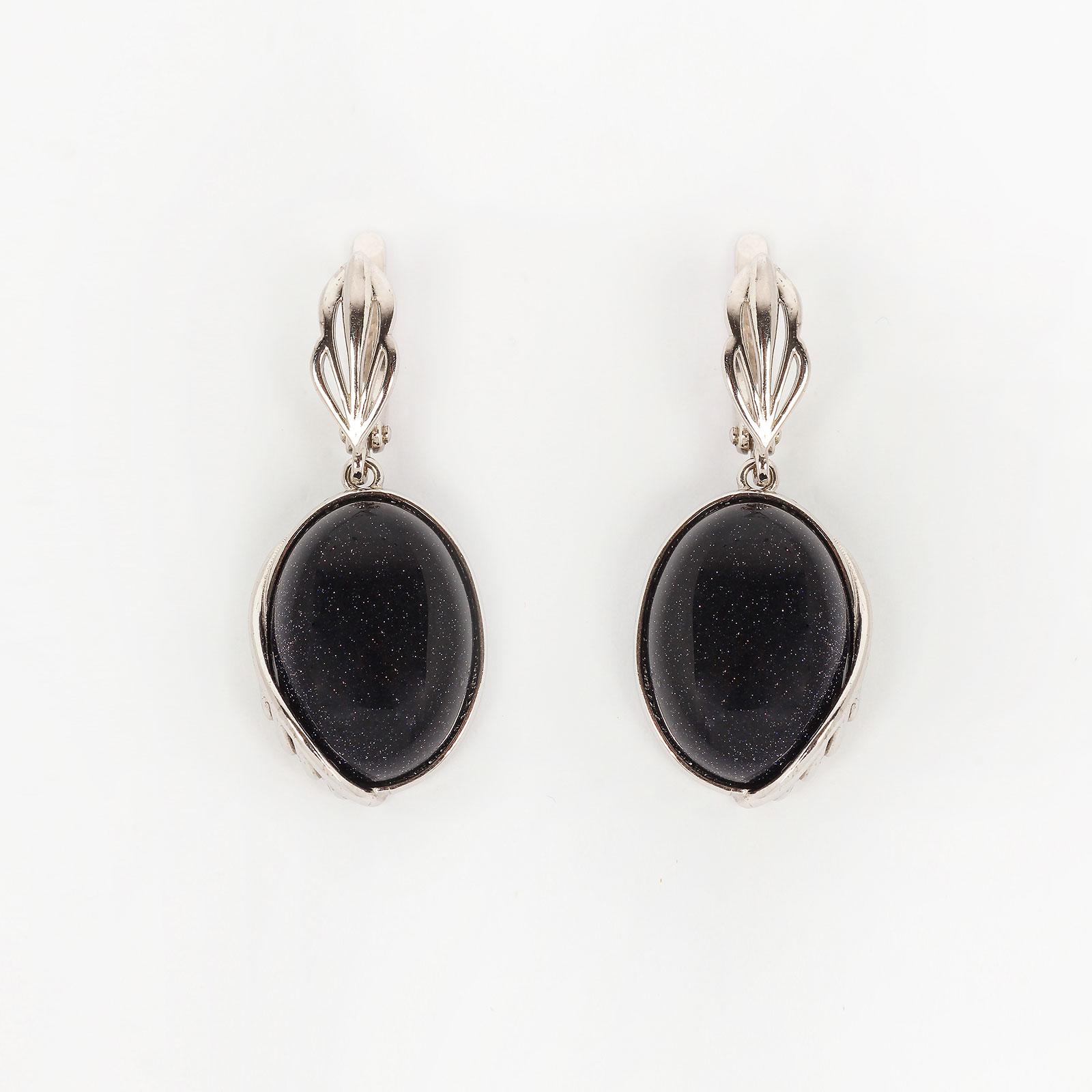 Серебряные серьги «Нежность бархата»