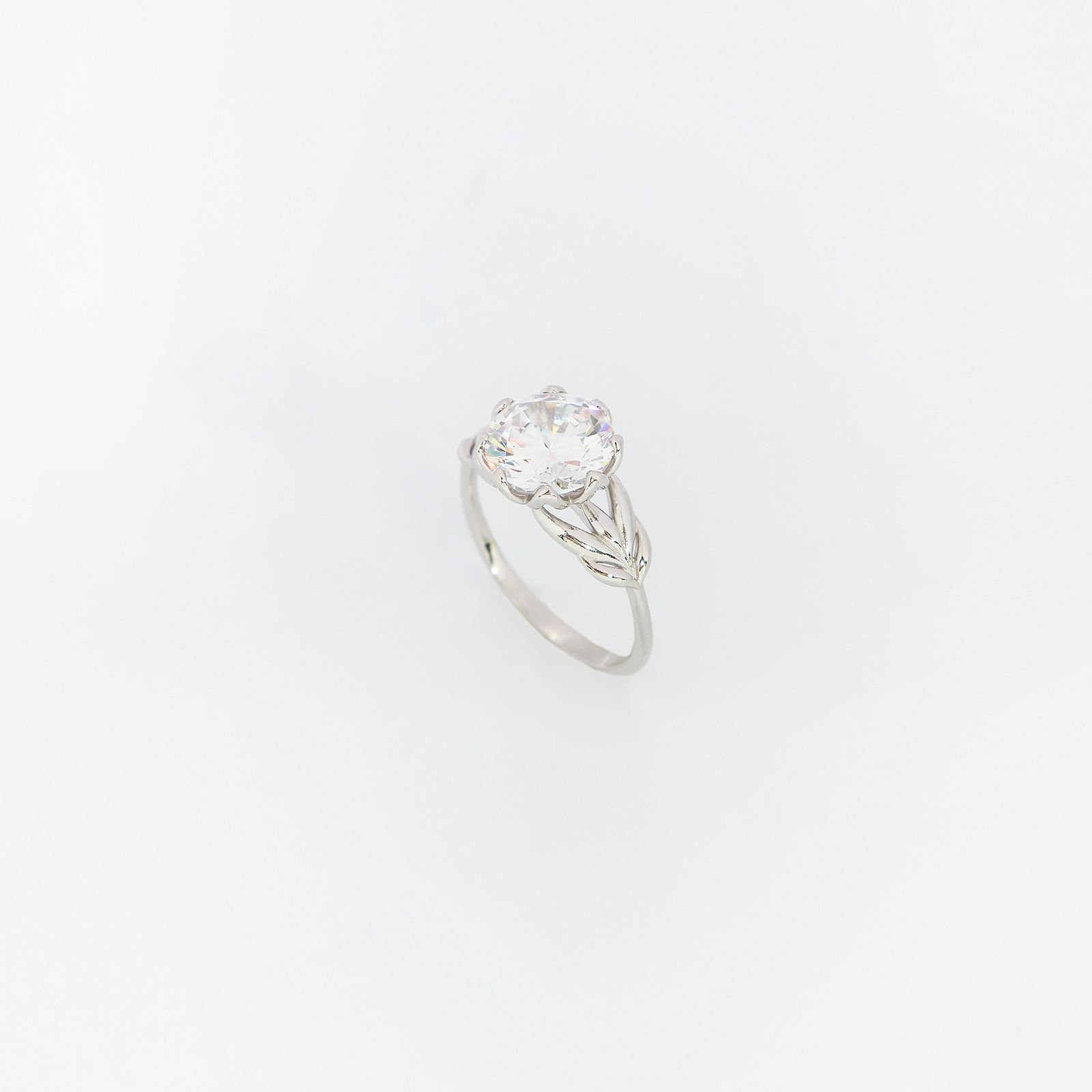 Серебряное кольцо «Нежная роза»