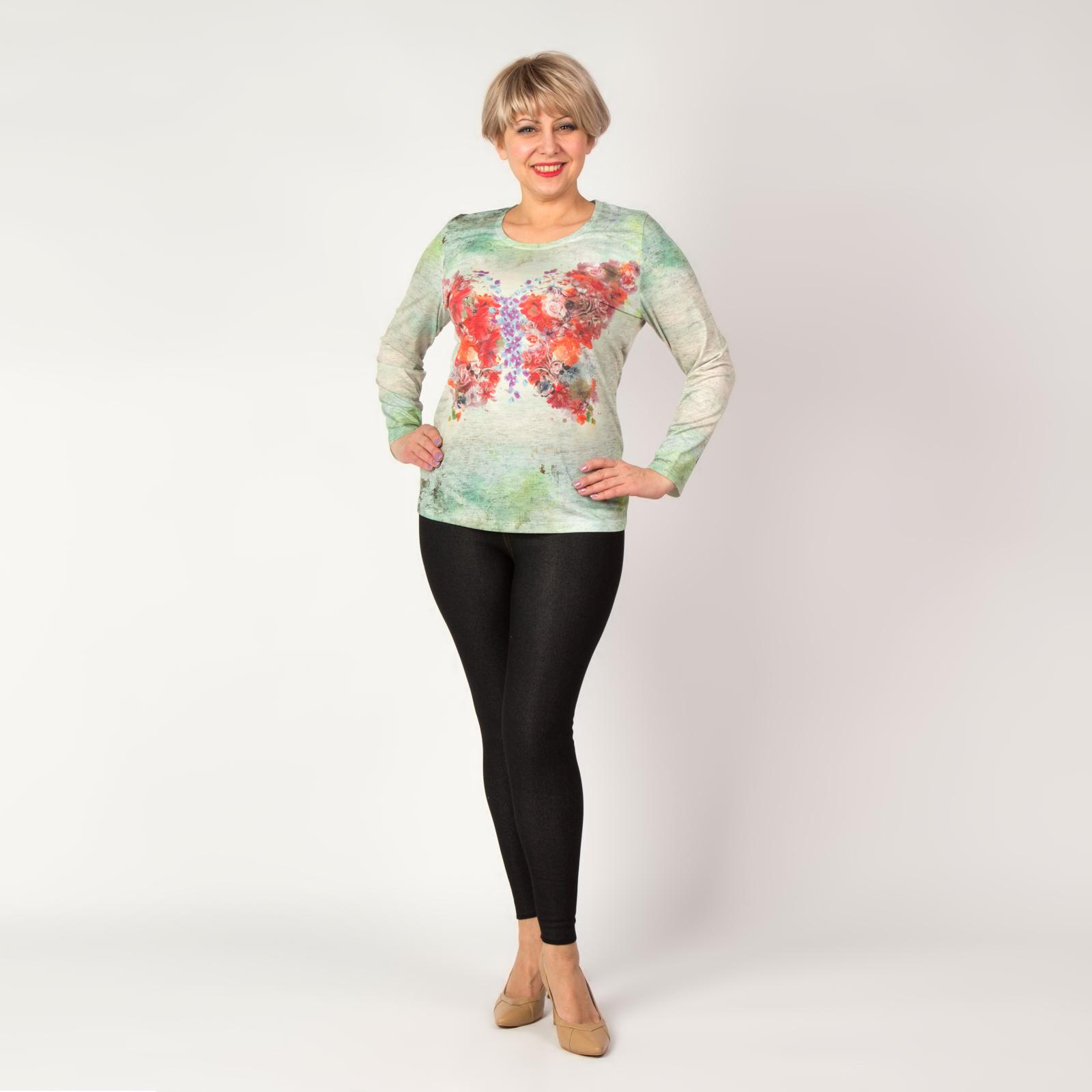 Блуза с принтом «Цветочная бабочка»