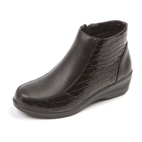 Ботинки с лаковым тиснением