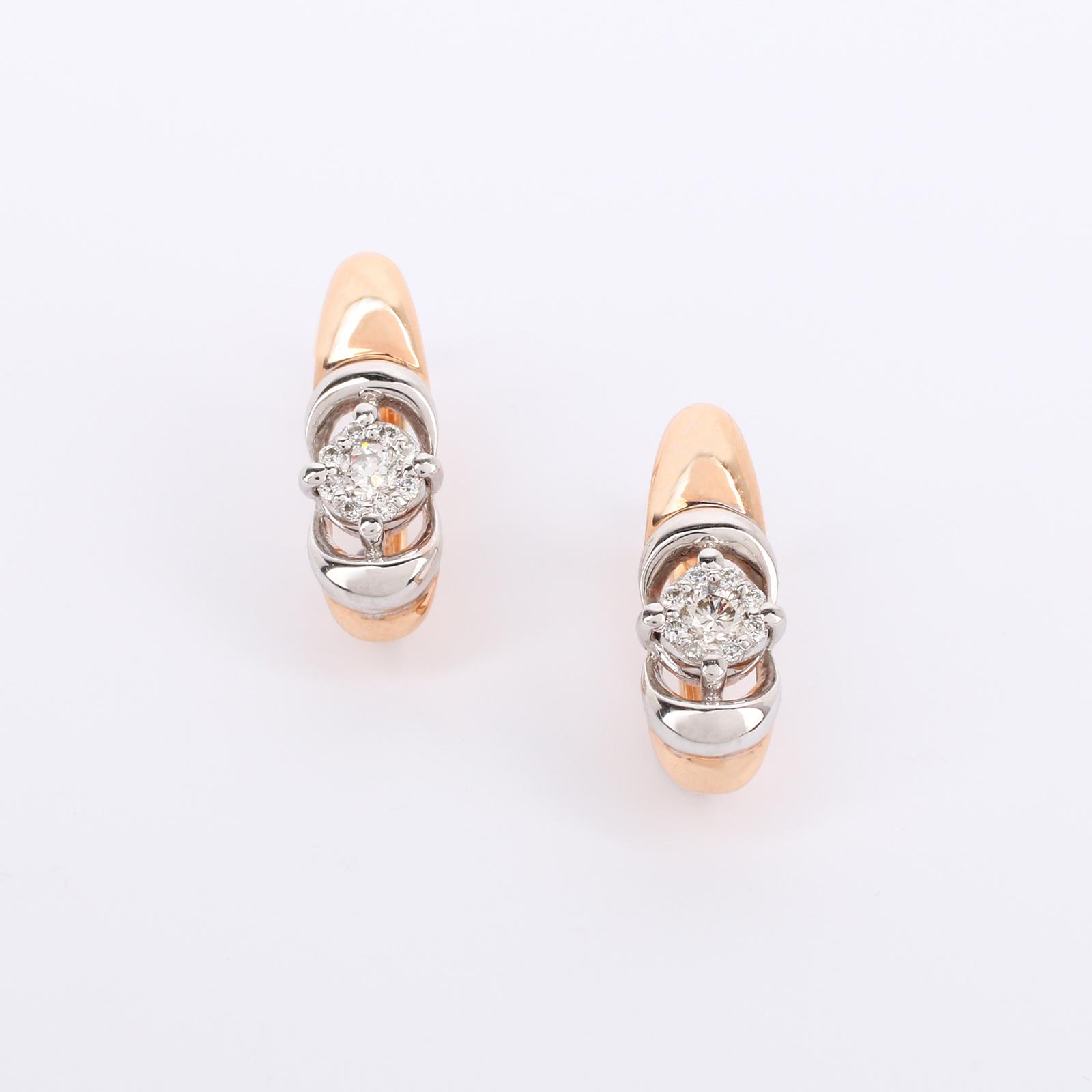 """Серьги из золота с бриллиантом """"Достояние"""""""