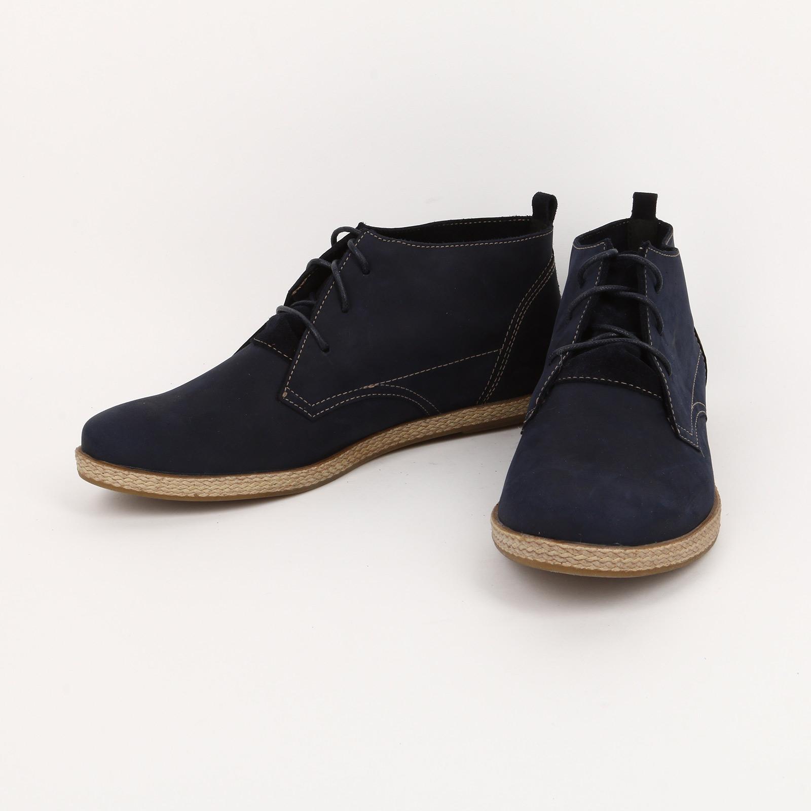 Ботинки с плетенной подошвой