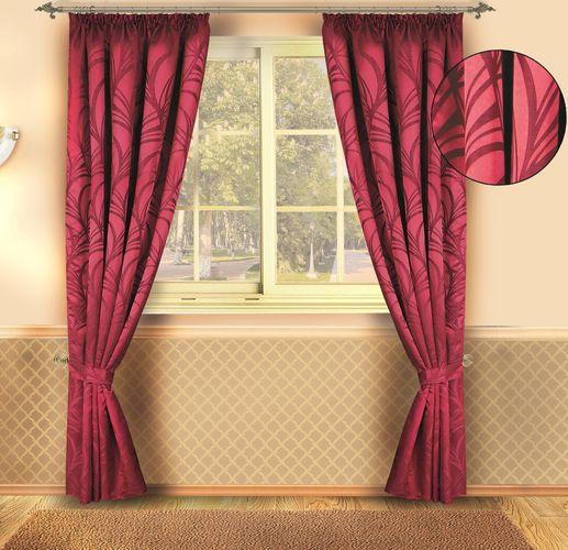 Комплект штор «Рубиновый Узор»