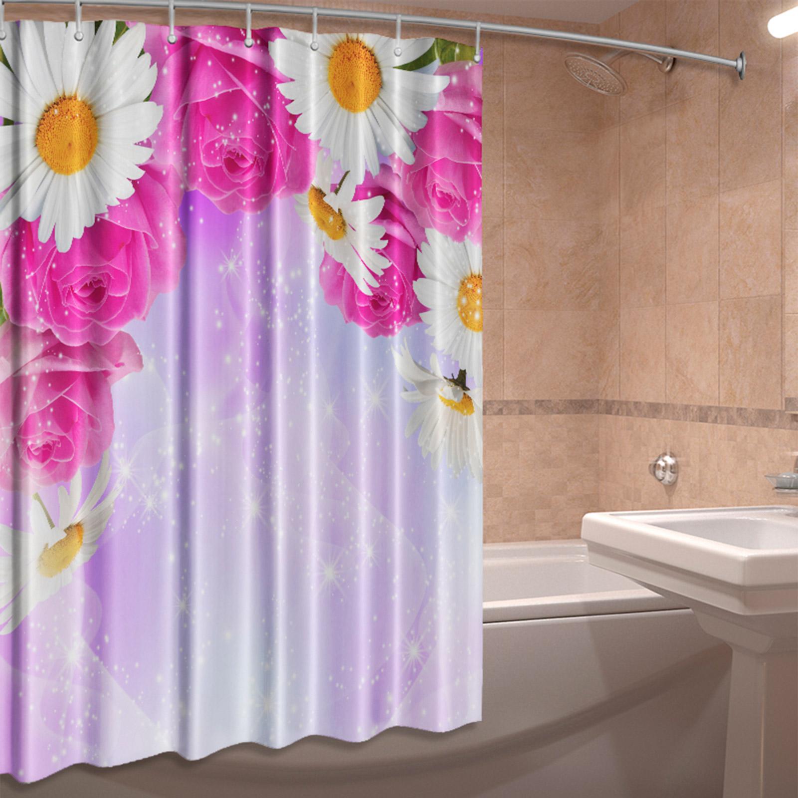 Штора для ванной комнаты «Розовая мечта»