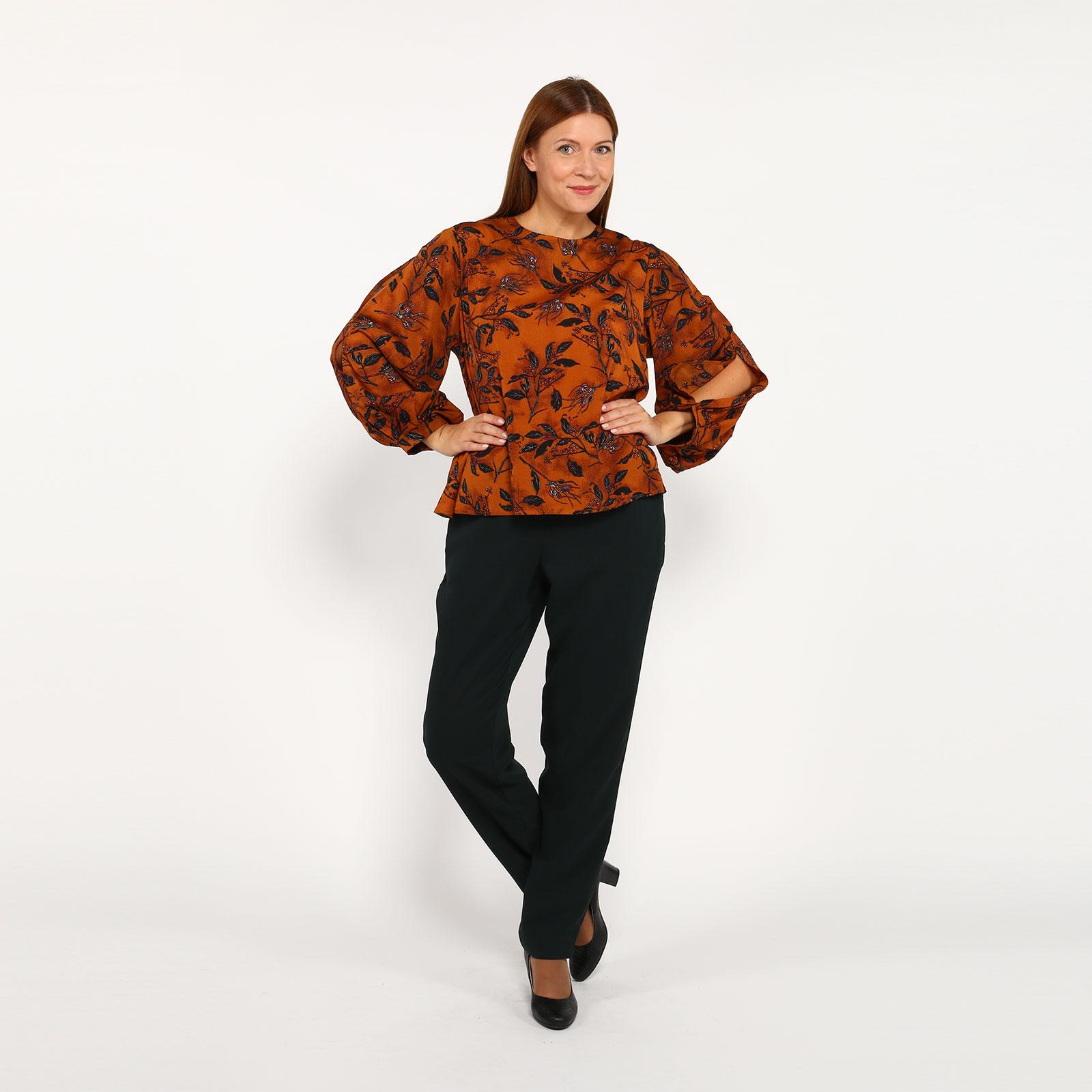 Блуза с оригинальными рукавами и молнией кардиган pettli collection pettli collection pe034ewvvz23