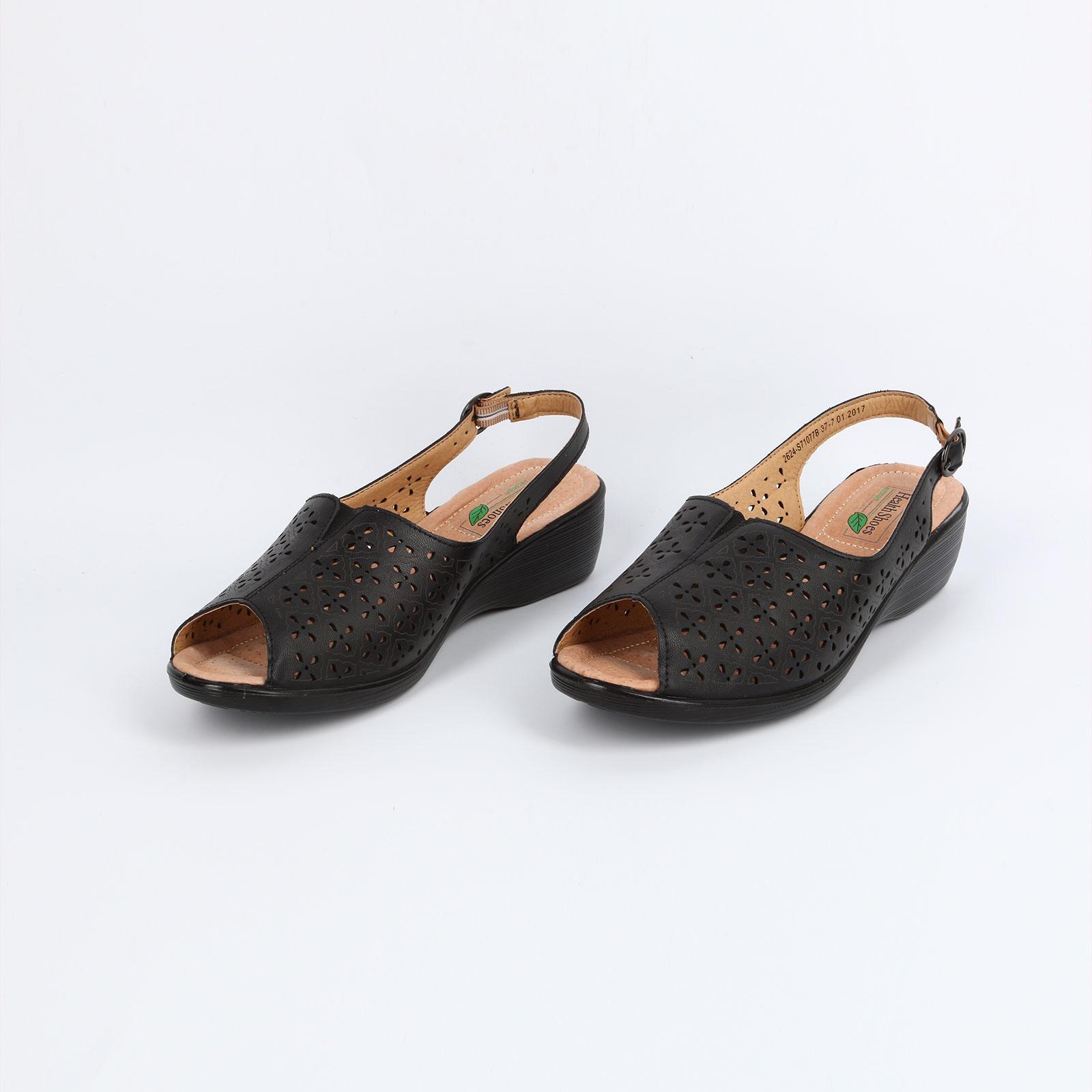 Туфли женские с открытой пяткой и перфорацией