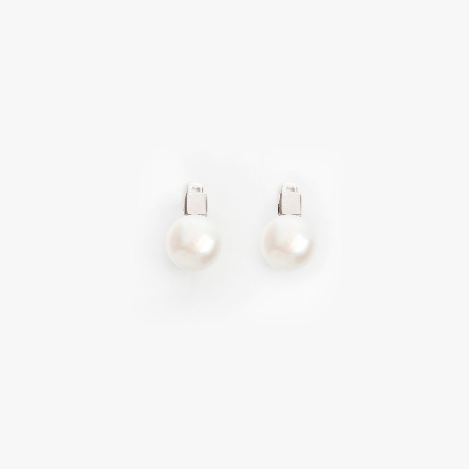 Серебряные серьги «Жемчужина»