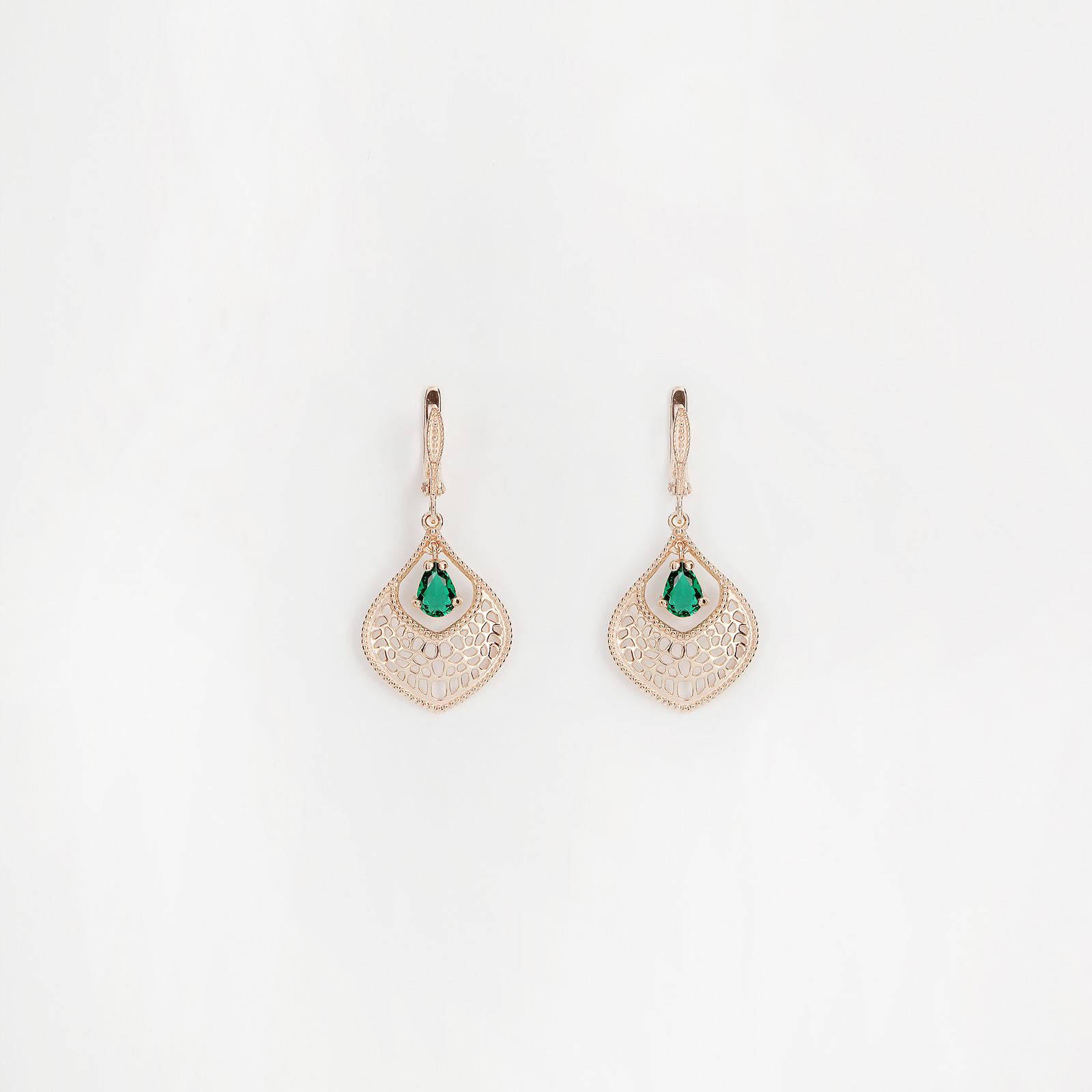 Серебряные серьги «Блики»