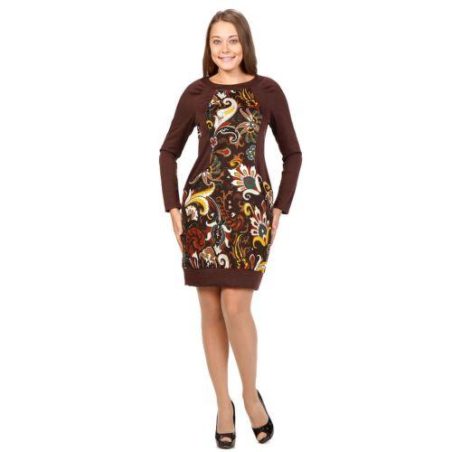Платье с принтом «Восточные цветы» живые цветы в вакууме купить в саратове