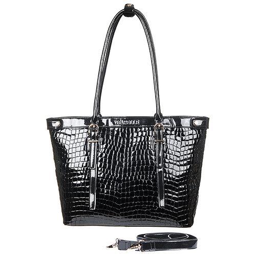 Женская сумка с лакированным покрытием