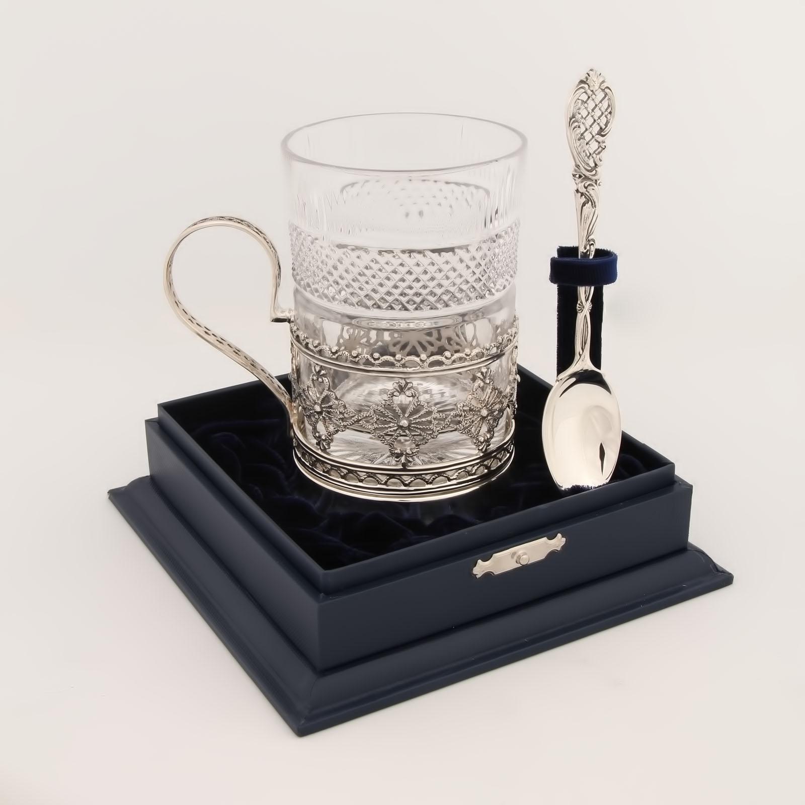 Серебряный набор для чая «Ажур»