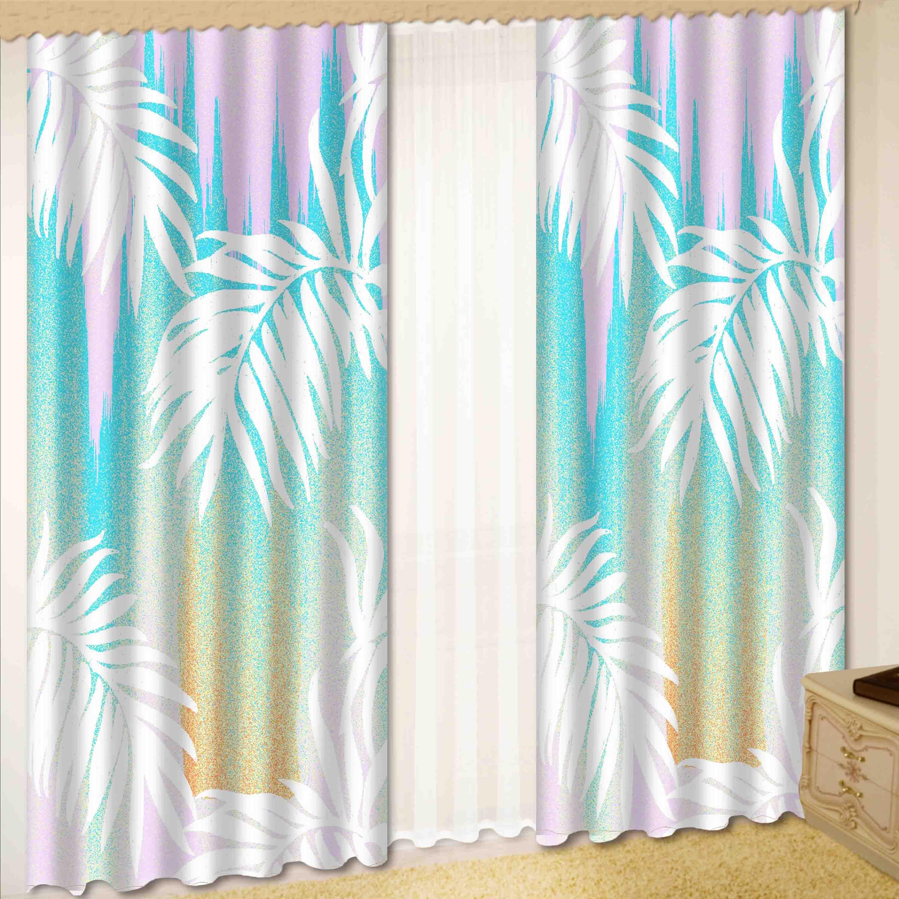 Комплект штор + тюль «Лазурная нежность»