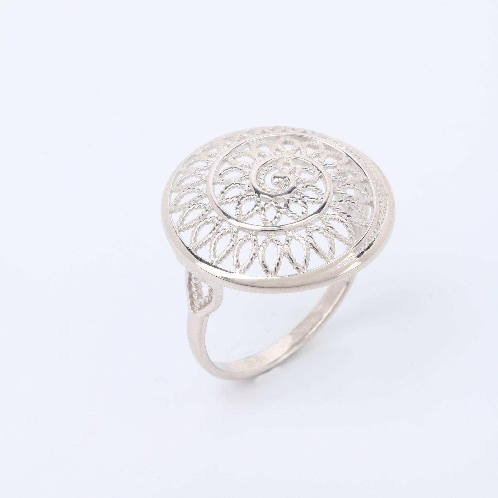 """Серебряное кольцо """"Роскошная скань"""""""