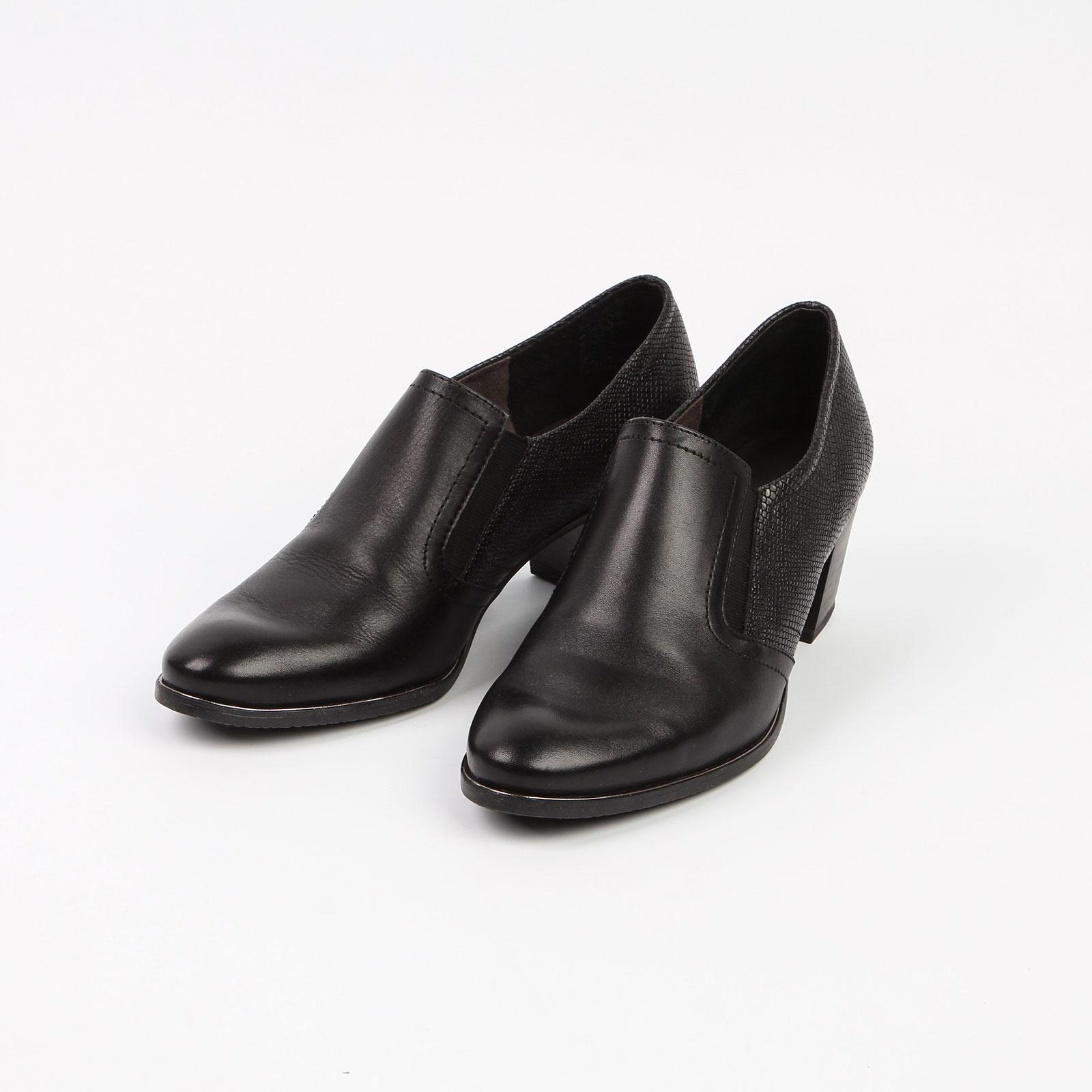 Туфли женские из натуральной кожи на невысоком каблуке