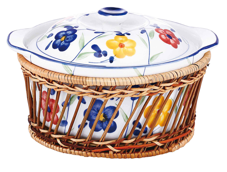 Керамическая кастрюля «Аленький цветочек»