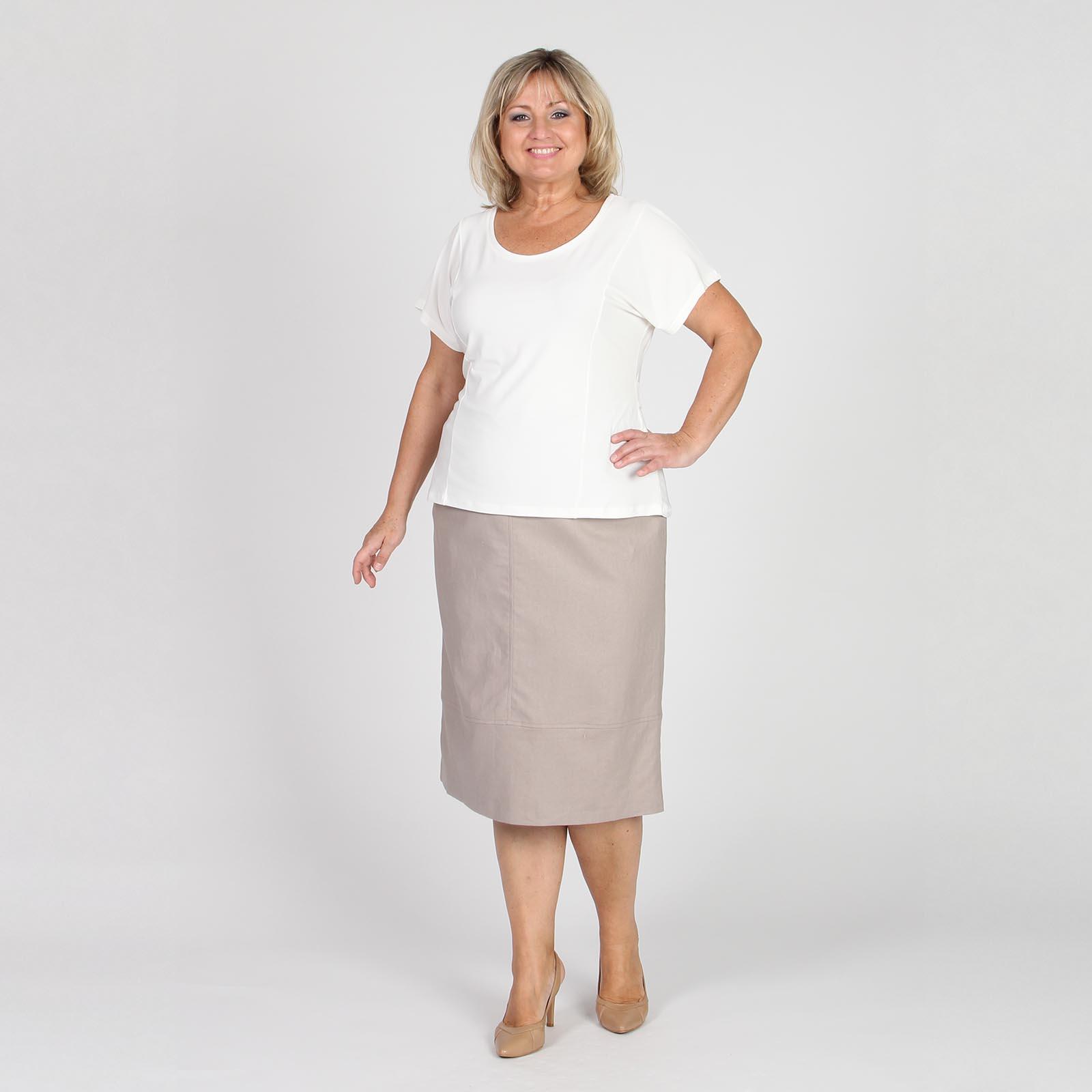 Блуза прямого кроя с поясом