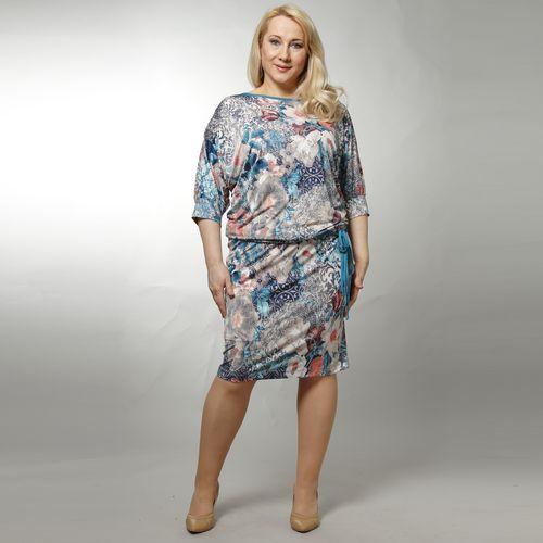 Платье с ярким цветочным принтом и рукавом «летучая мышь»