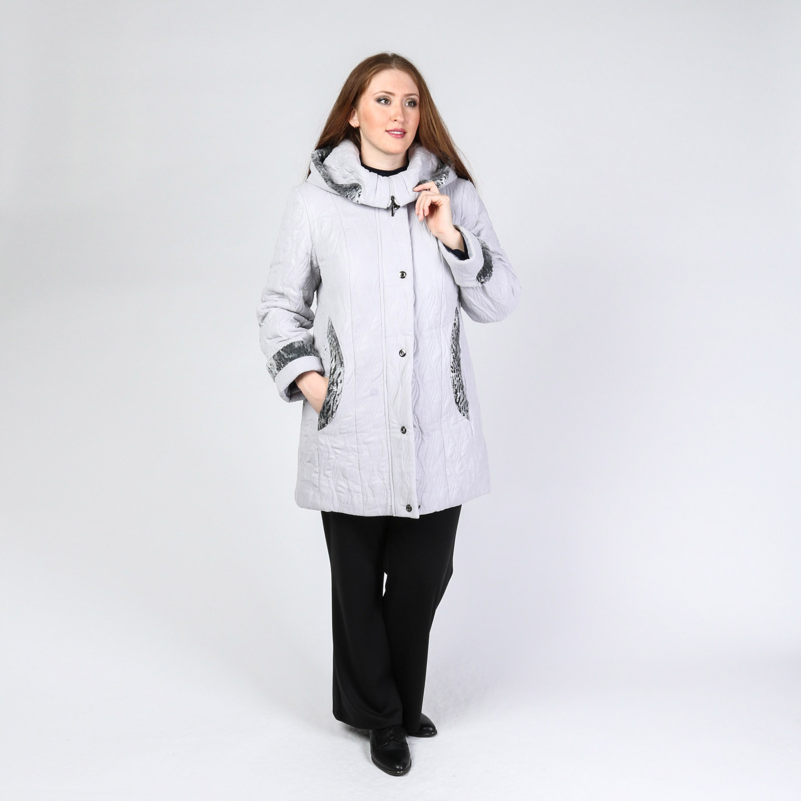 Куртка с фактурным узором