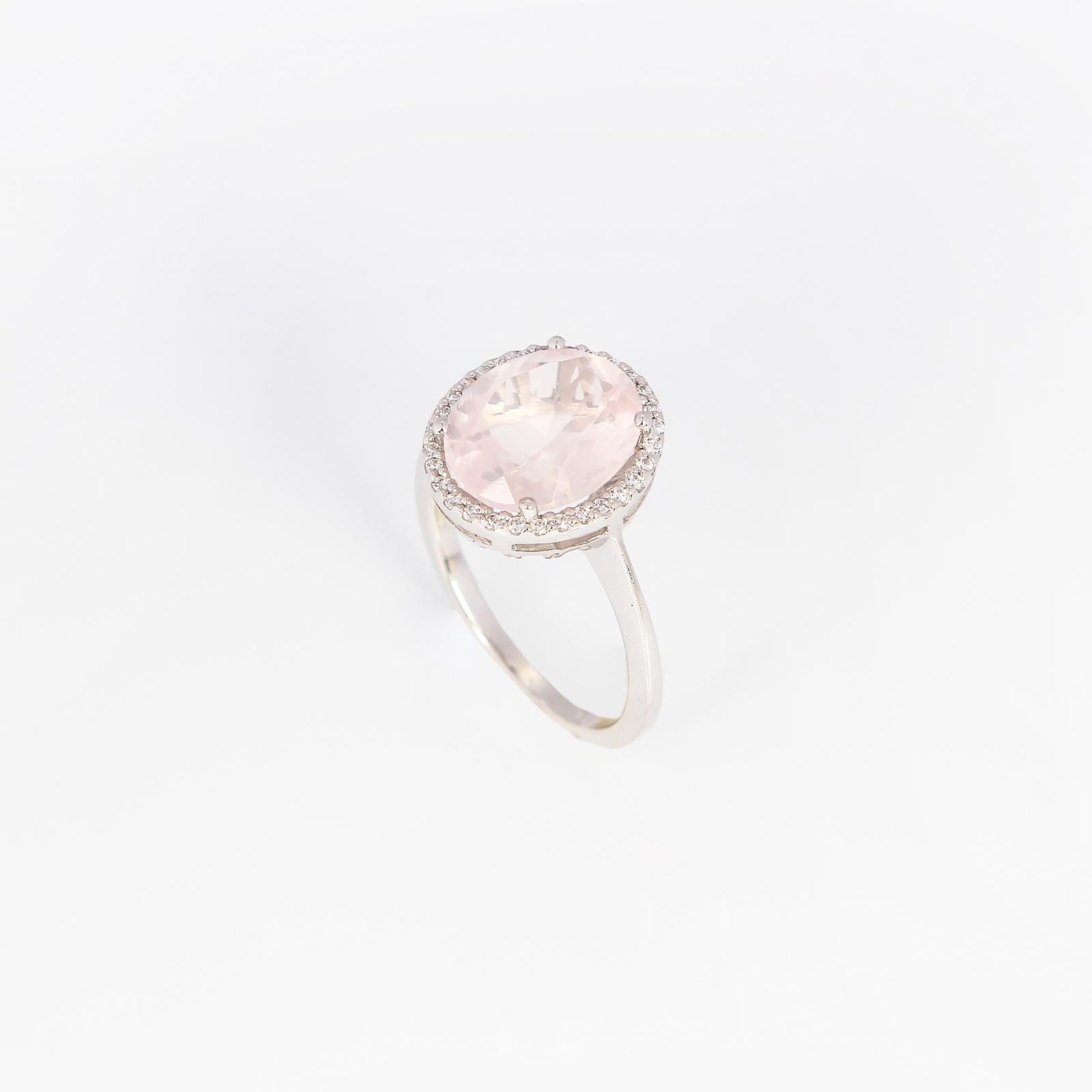 Серебряное кольцо «Розовый каприз»