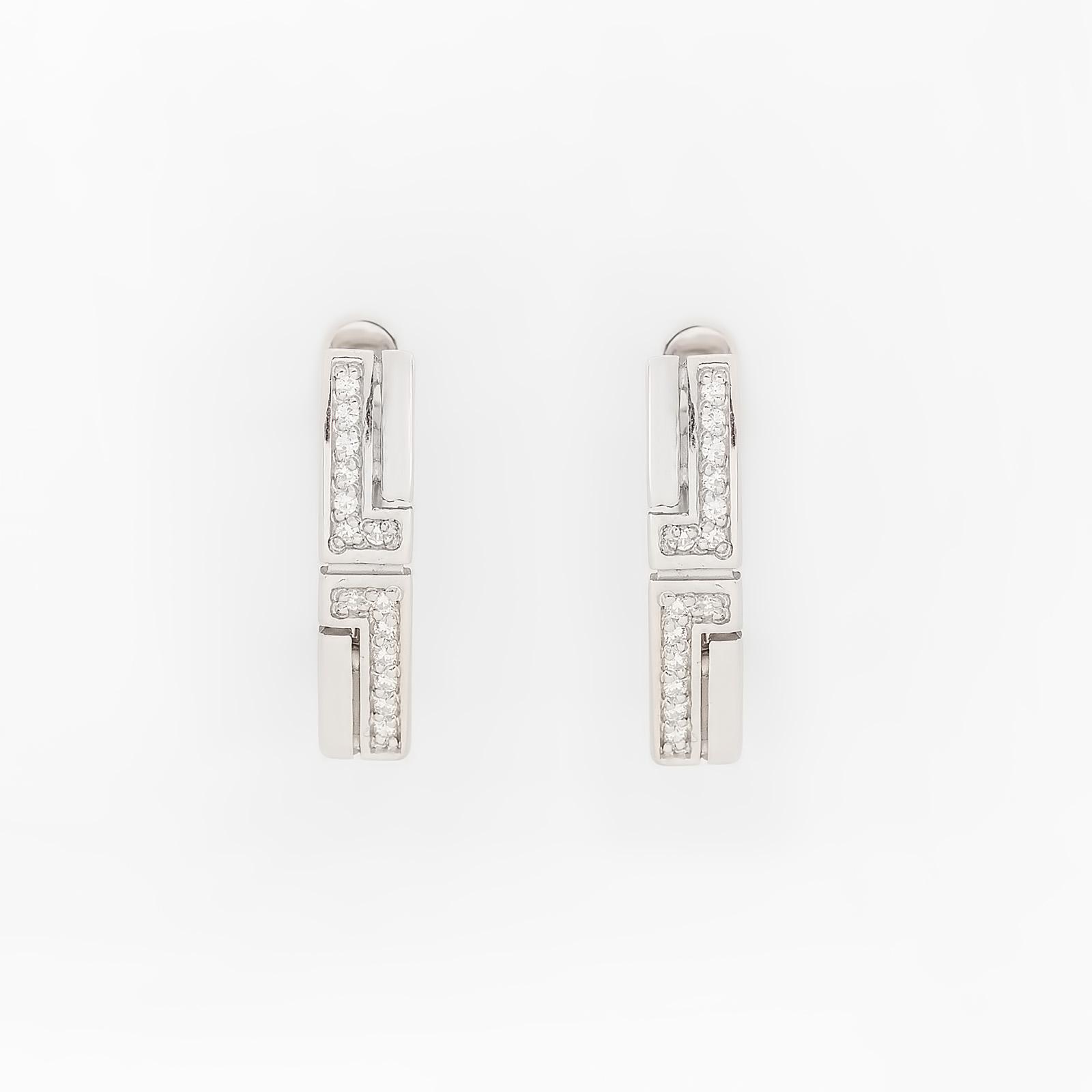 Серебряные серьги «Американский стиль»