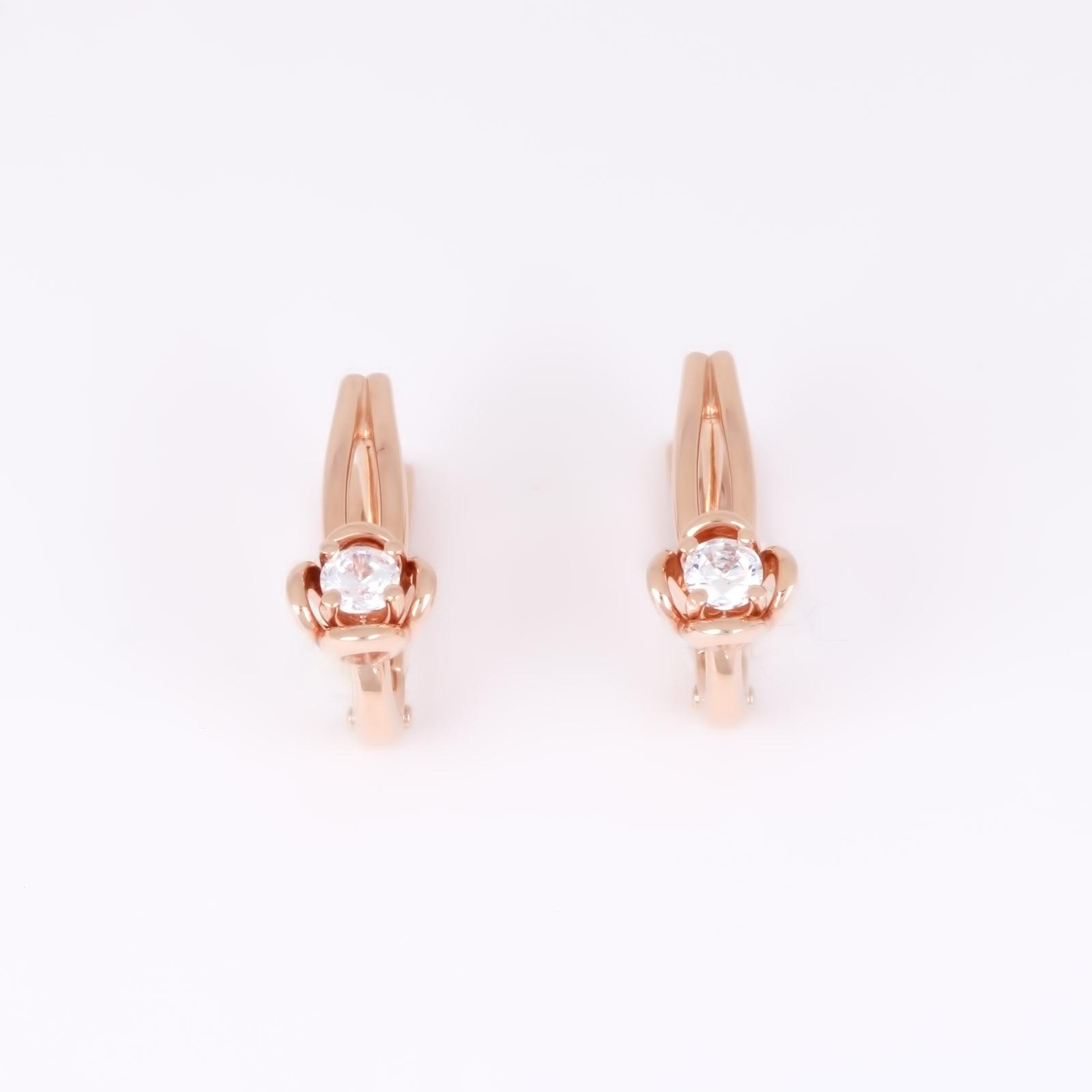 Золотые серьги «Идеал»