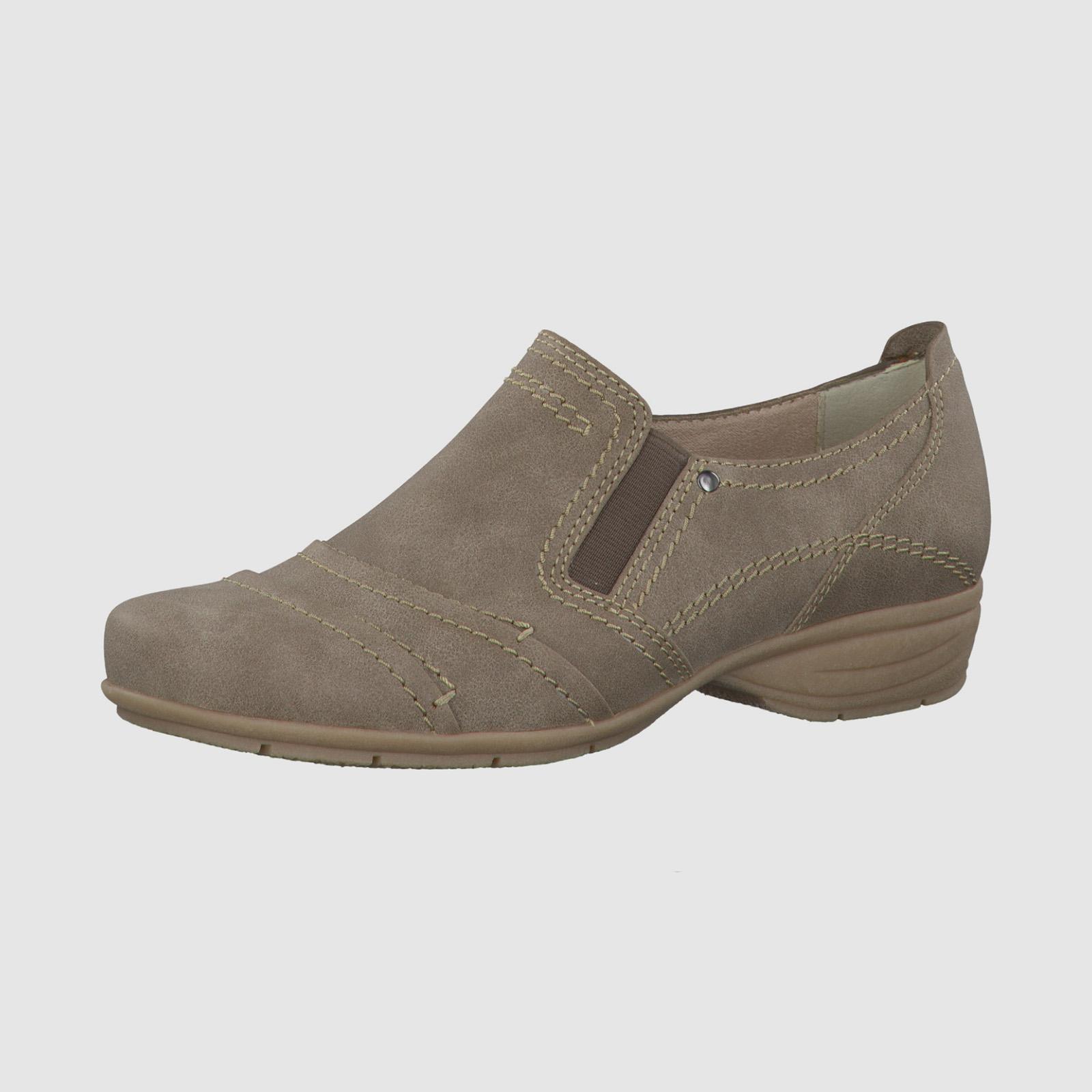 Женские туфли с декоративной строчкой