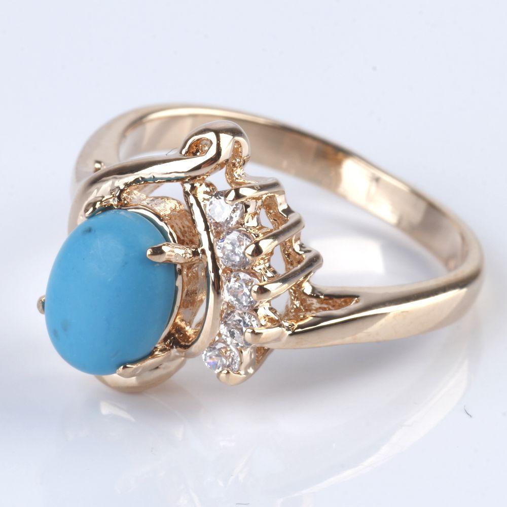 Кольцо «Бирюзовая мечта»