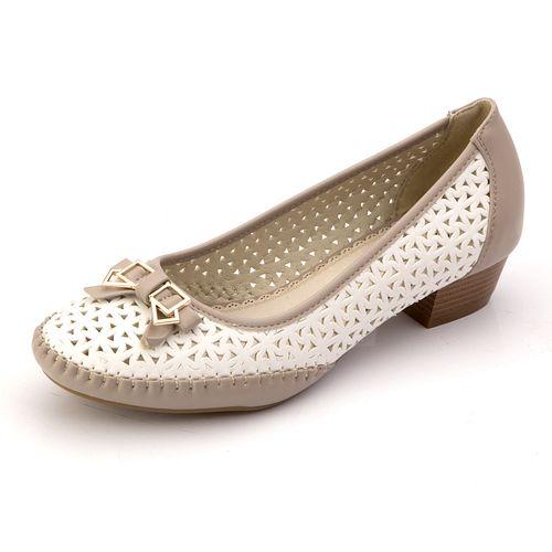 Женские туфли с прострочкой и бантиком
