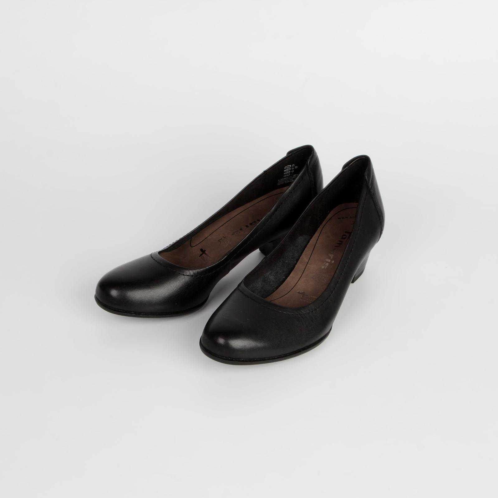 Туфли-лодочки из натуральной кожи с прострочкой