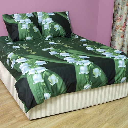 Комплект постельного белья «Ландыши на зеленом»