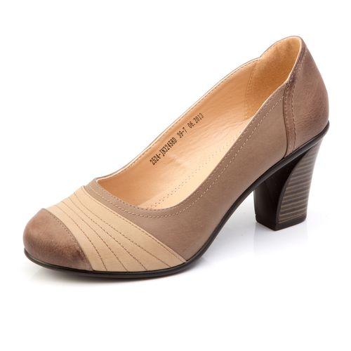 Туфли с бежевой вставкой