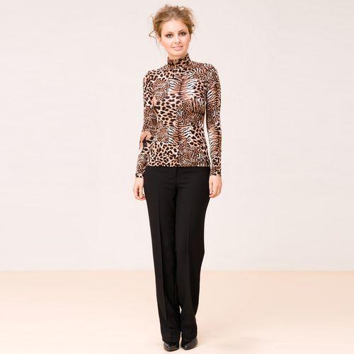 Трикотажная блуза с леопардовым принтом