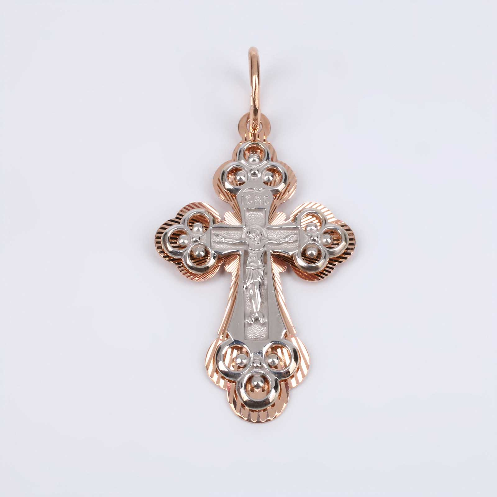 Золотой крест  из комбинированного золота