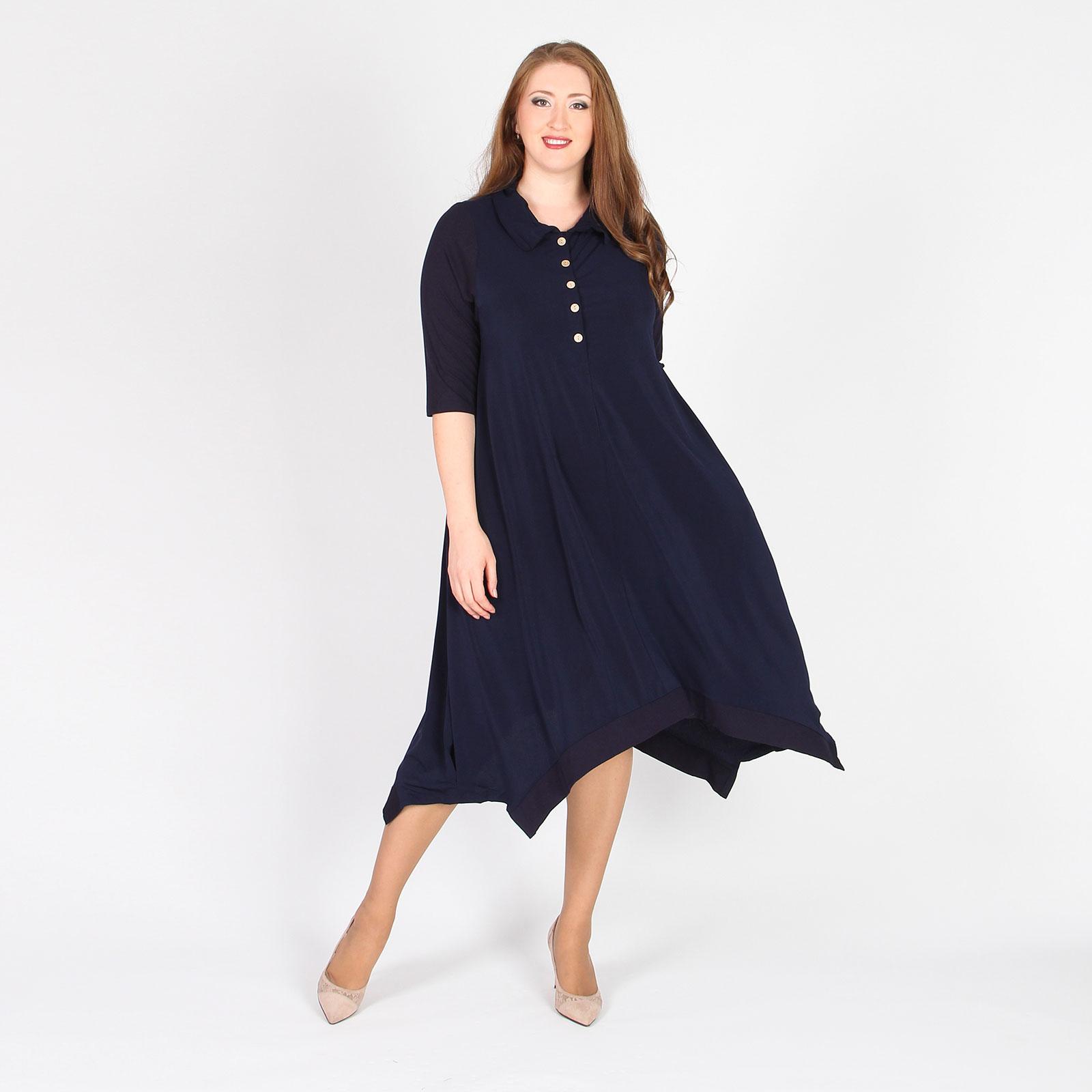 Платье на пуговицах дизайнерского кроя