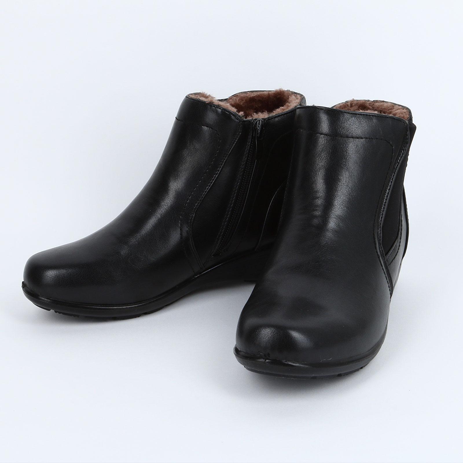 Высокие женские ботинки с эластичной вставкой