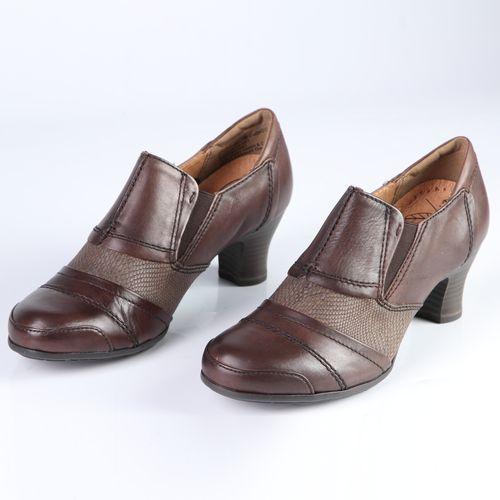 Женские туфли из натуральной кожи с эластичными вставками