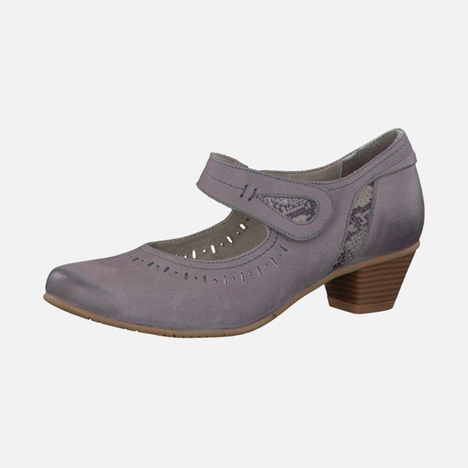 Туфли женские из натуральной кожи украшенные перфорированными вставками