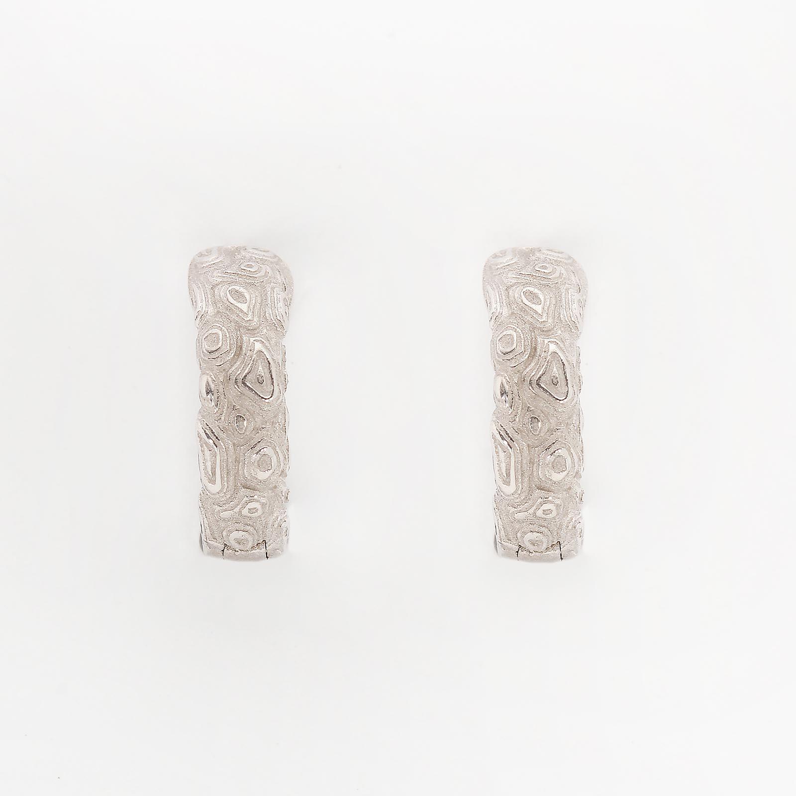 Серебряные серьги «Тигрица»