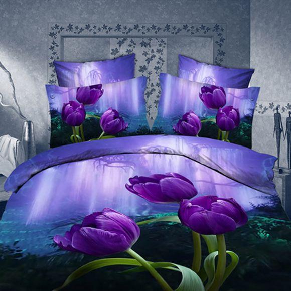 Комплект постельного белья «Сиреневый тюльпан»