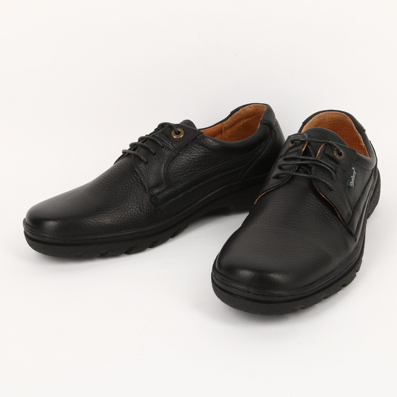 Мужские кожаные полуботинки на шнуровке
