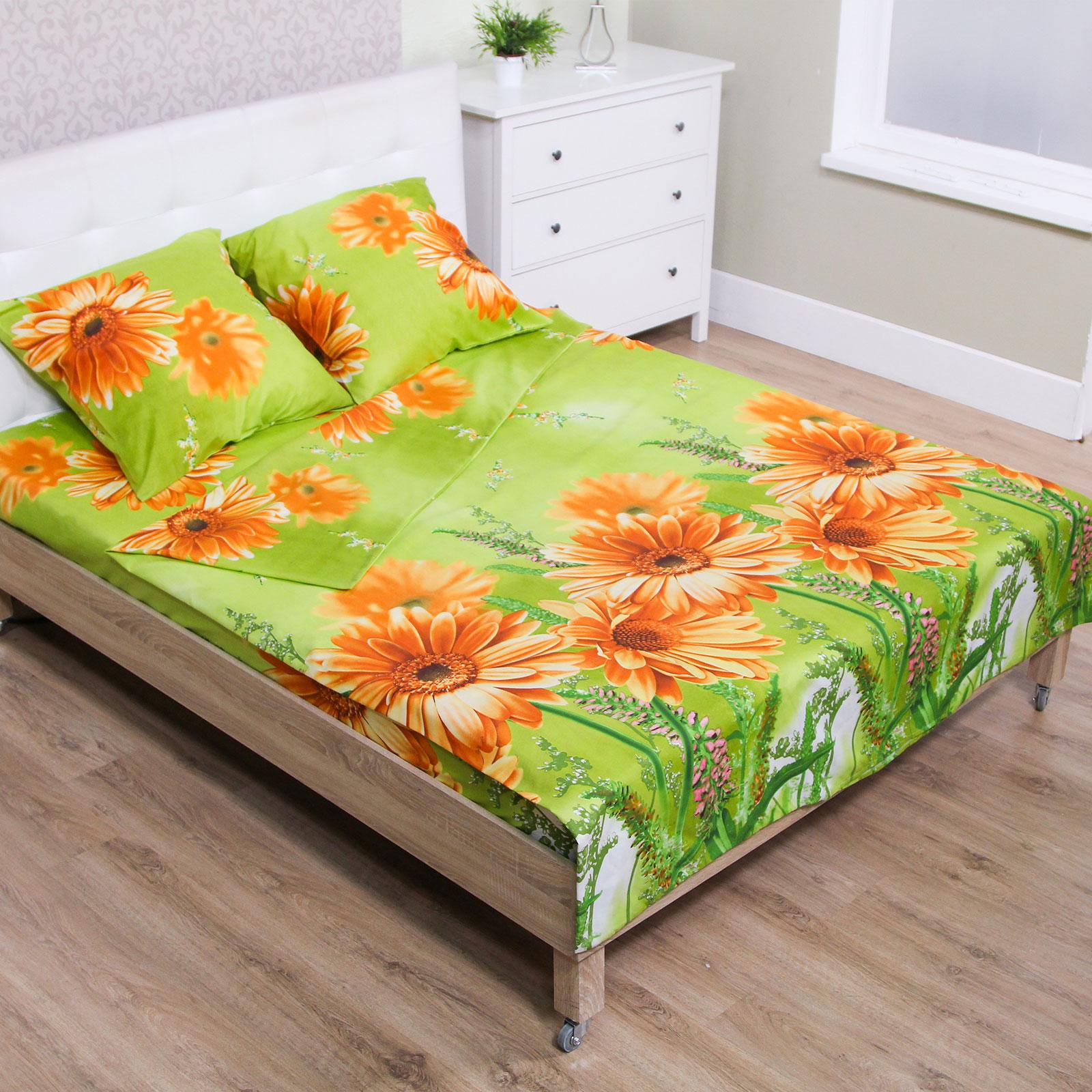 Комплект постельного белья «Оранжевые герберы»