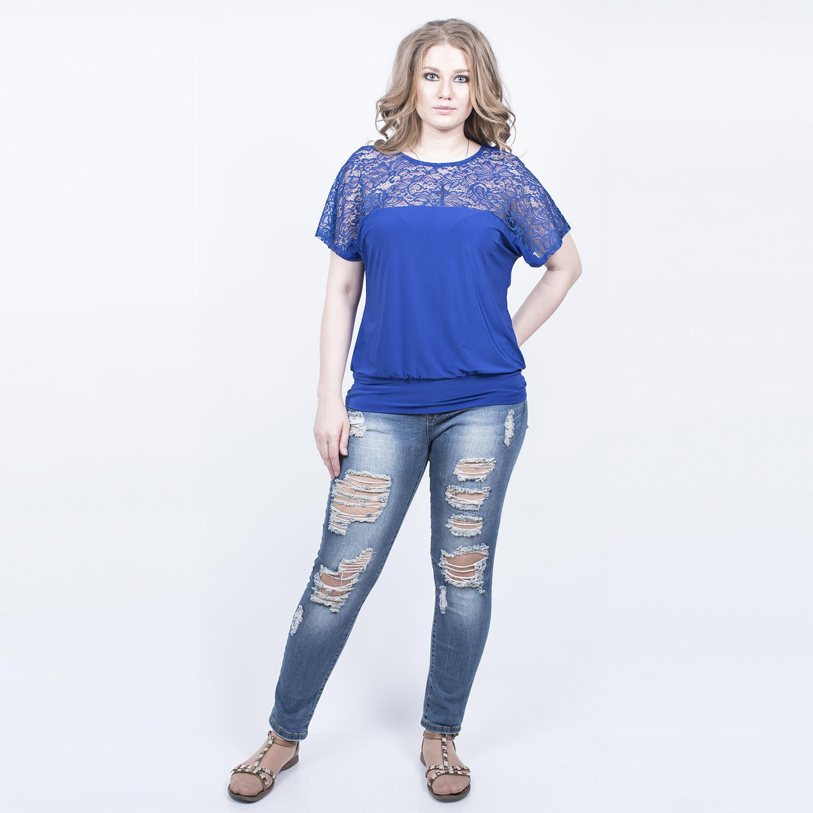 Блуза с кружевным верхом