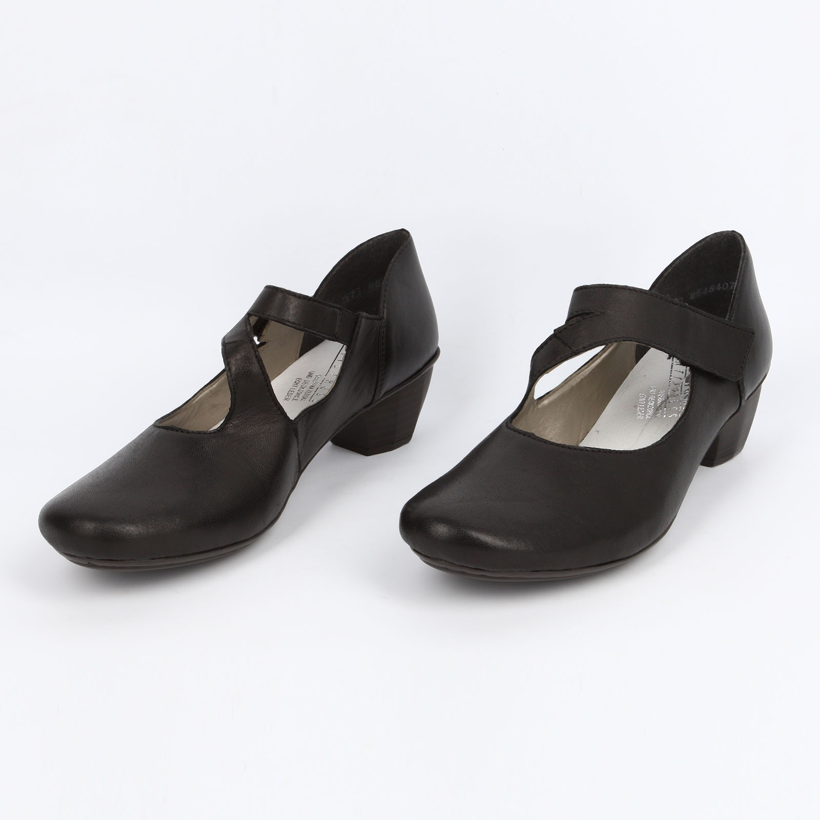 Летние женские туфли на наборном каблуке
