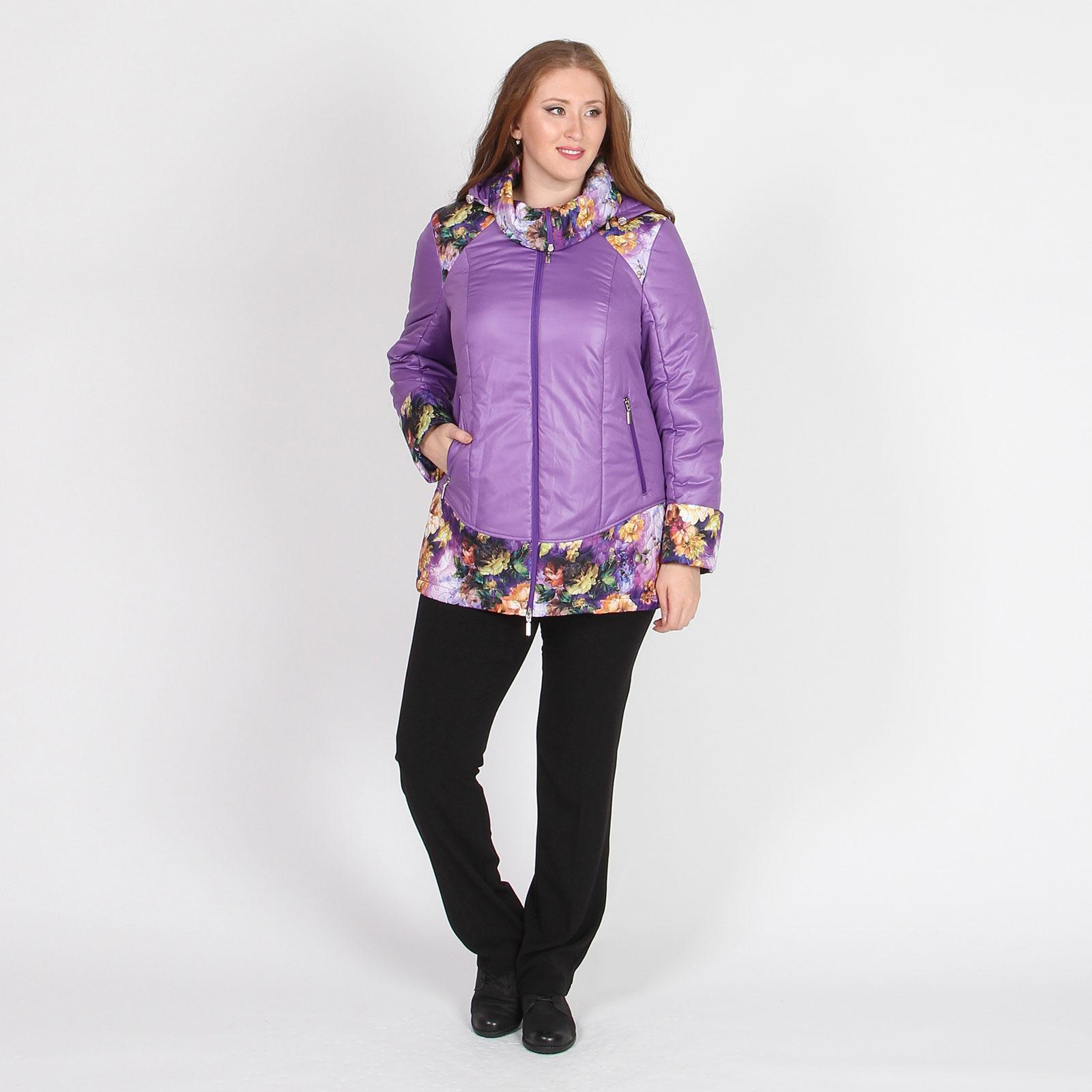 Куртка удлиненная с цветочным принтом